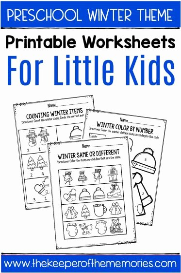 Winter theme Worksheets for Preschoolers Inspirational Winter Printable Preschool Worksheets the Keeper Of the