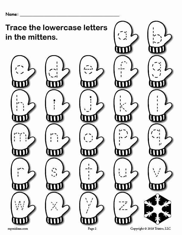 Winter theme Worksheets for Preschoolers Lovely Printable Winter themed Uppercase and Lowercase Alphabet Letter Tracing Worksheets