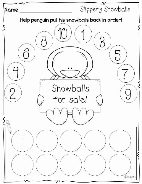 Winter theme Worksheets for Preschoolers Printable Print and Go Printables for Winter