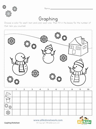 Winter Worksheets for Preschoolers Printable Winter Graphing Worksheet