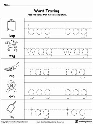 Word Tracing Worksheets for Preschoolers Free Worksheet Worksheet Stunningate Tracing Worksheets Word Ag