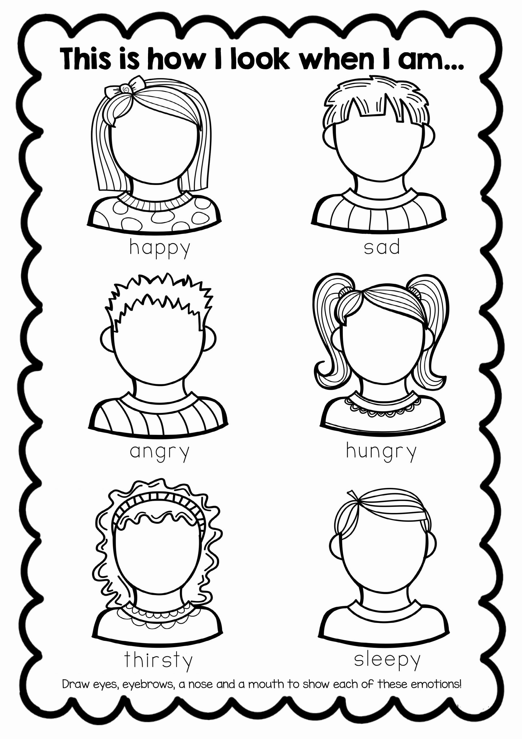Worksheets for Preschoolers About Feelings Kids Free Feelings Worksheet