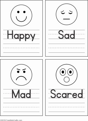 Worksheets for Preschoolers About Feelings Printable Feelings Faces Worksheet for Preschoolers