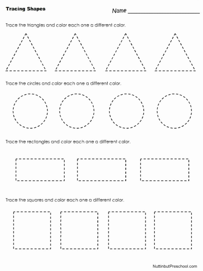 Worksheets for Preschoolers About Shapes Free Coloring Pages Tracing Shapes Worksheet Nuttin buthool