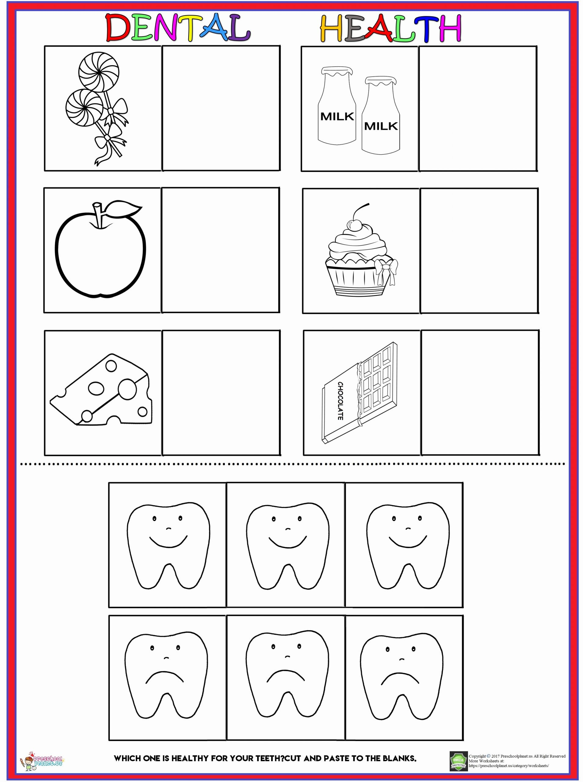 Worksheets for Preschoolers About Teeth Best Of Dental Health Worksheet – Preschoolplanet
