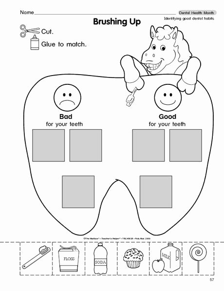 Worksheets for Preschoolers About Teeth Free Brush Your Teeth Worksheet From the Mailbox