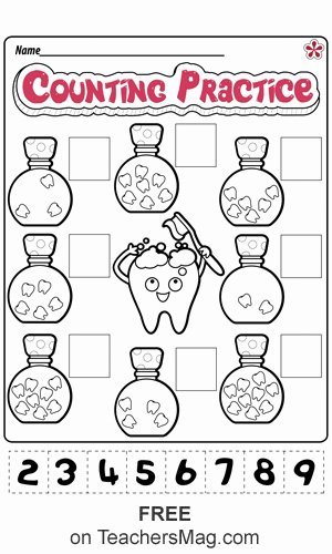 Worksheets for Preschoolers About Teeth New Dental Health Worksheets for Preschool and Kindergarten