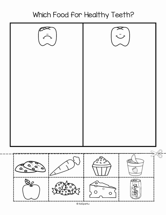 Worksheets for Preschoolers About Teeth top Pin Kidsparkz New Activities for Preschool Teeth