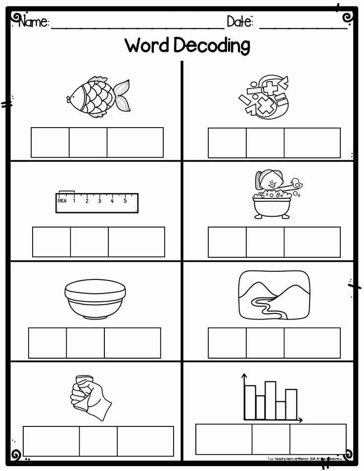 Worksheets for Preschoolers at Home Ideas Worksheet Kindergarten Word Decoding Practiceheets