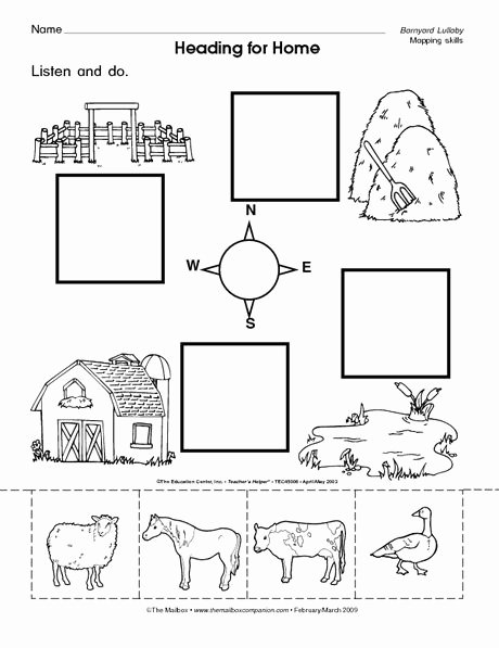 Worksheets for Preschoolers at Home Printable the Mailbox