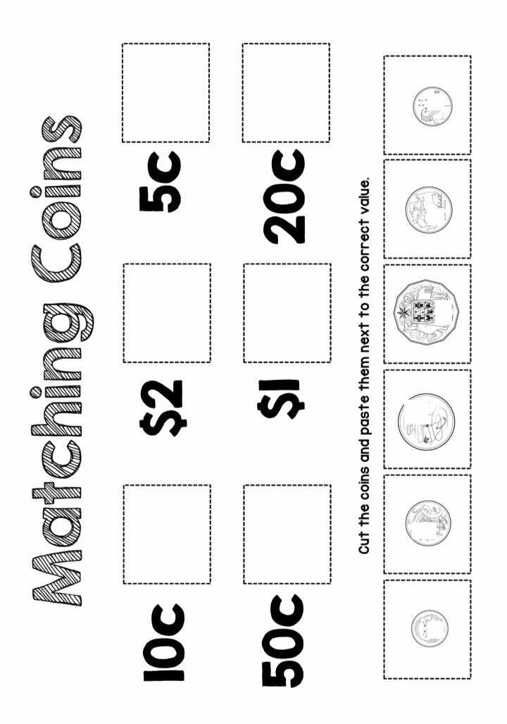 Worksheets for Preschoolers Australia Best Of Designed by Teachers Australian Money – Games Worksheets