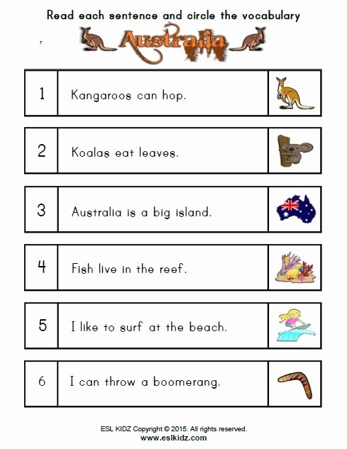 Worksheets for Preschoolers Australia Free Australia Worksheets Activities Games and Worksheets for