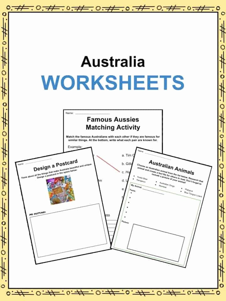 Worksheets for Preschoolers Australia top Australia Facts Worksheets & Information for Kids
