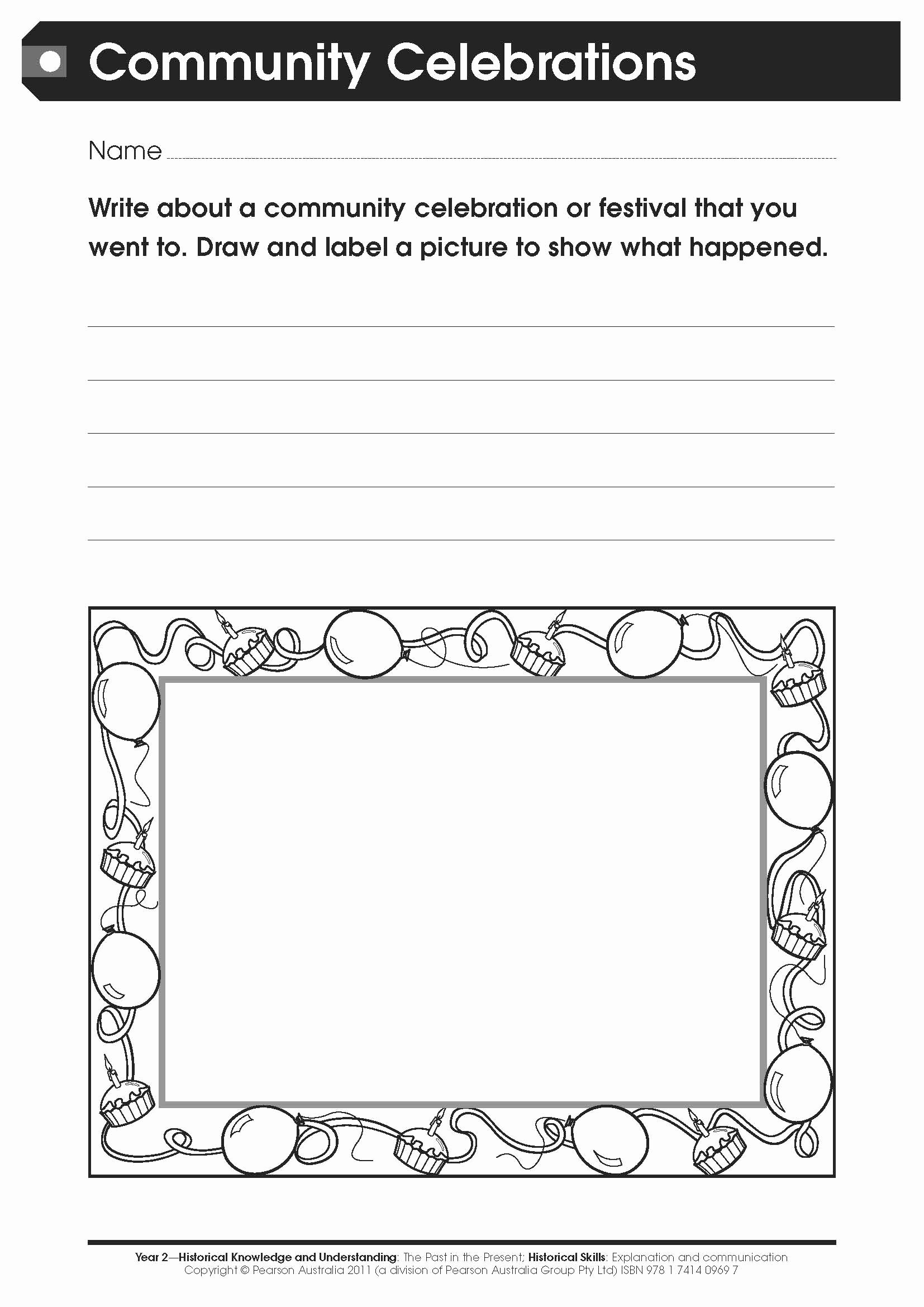 Worksheets for Preschoolers Australia top Free Worksheet Munity Celebrations for Lower Primary