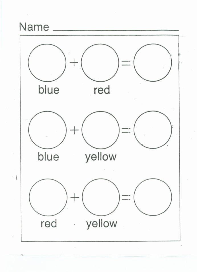 Worksheets for Preschoolers Colors Kids Color Mixing Printable Worksheet Google Search with