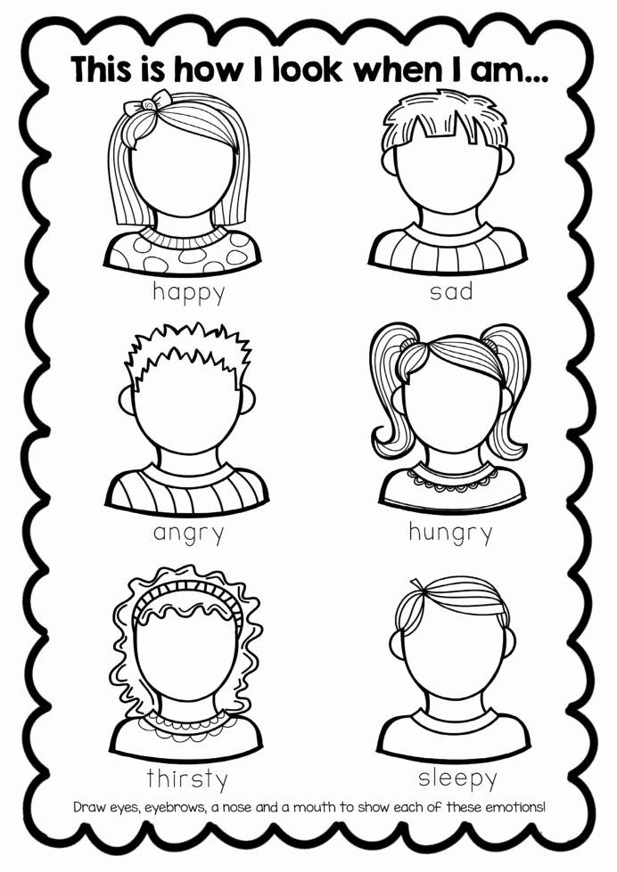 Worksheets for Preschoolers Emotions Kids Feelings Worksheet Crian§as Aulas Inglªs atividades Para