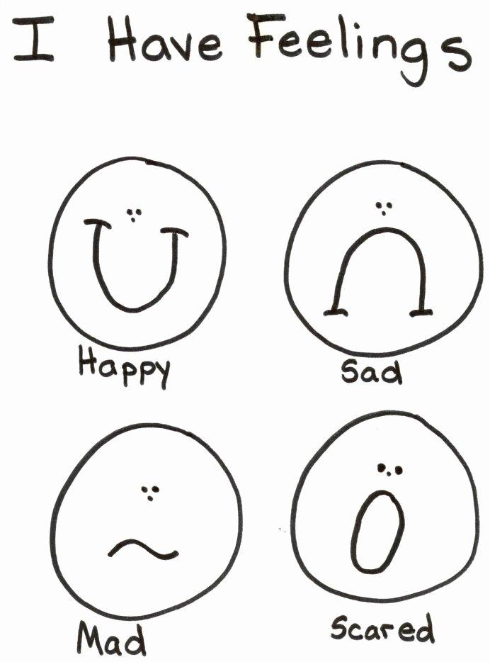 Worksheets for Preschoolers Emotions top Emotions Coloring Lds Nursery Preschool Feelings Feeling