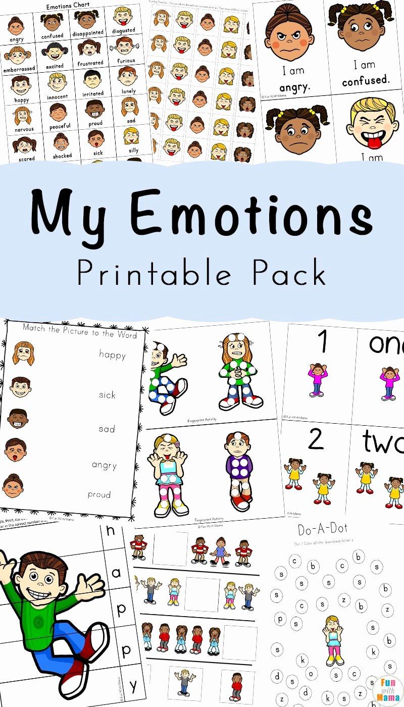 Worksheets for Preschoolers Emotions top Feelings Activities Emotions Worksheets for Kids Fun
