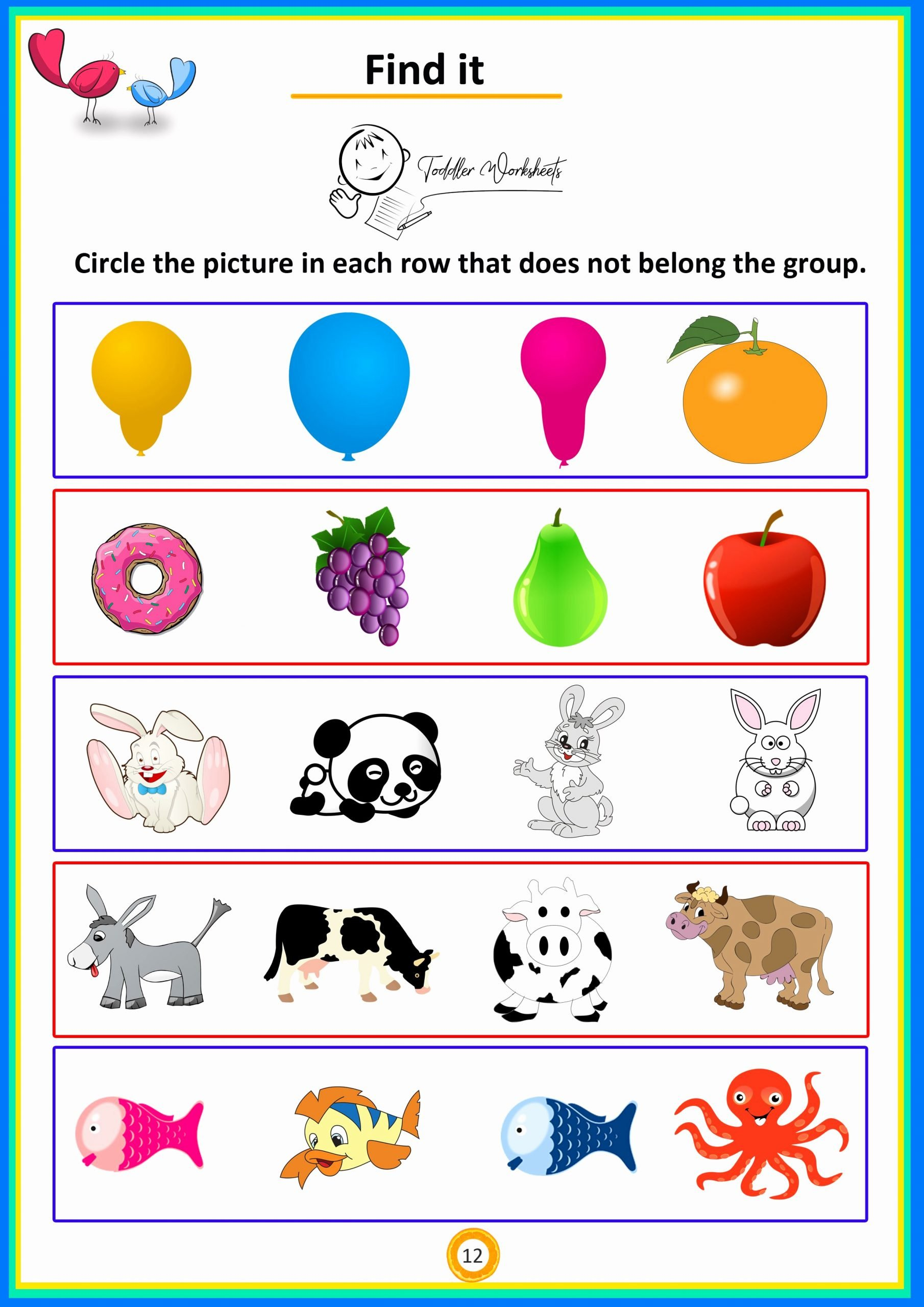 Worksheets for Preschoolers Free Download Inspirational Find It 4 Preschool toddler Math Worksheets Free