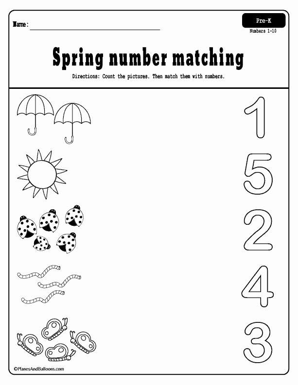 Worksheets for Preschoolers Free Printables Inspirational Spring Preschool Worksheets Printable Pack Free Pre Numbers