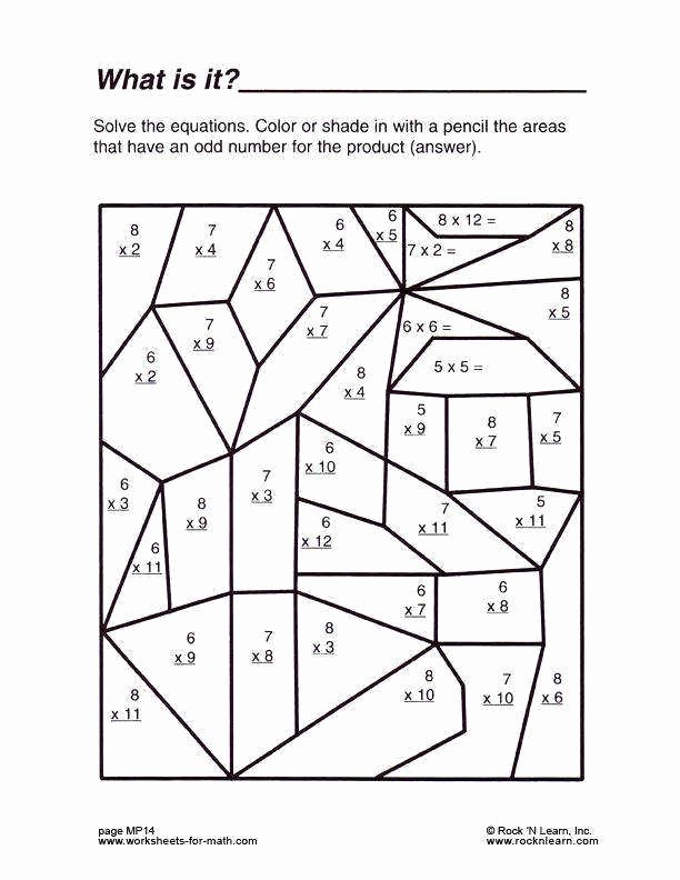 Worksheets for Preschoolers In Math Kids Multiplication Coloring Printable Middle School Math