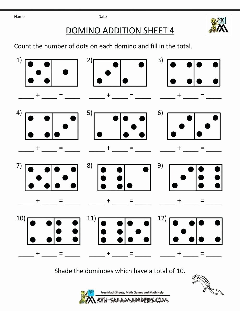Worksheets for Preschoolers In Math Printable Math Worksheet Math Addition Games for First Grade Free