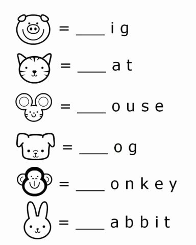 Worksheets for Preschoolers Learning English New Beginning sounds Letter Worksheets for Early Learners