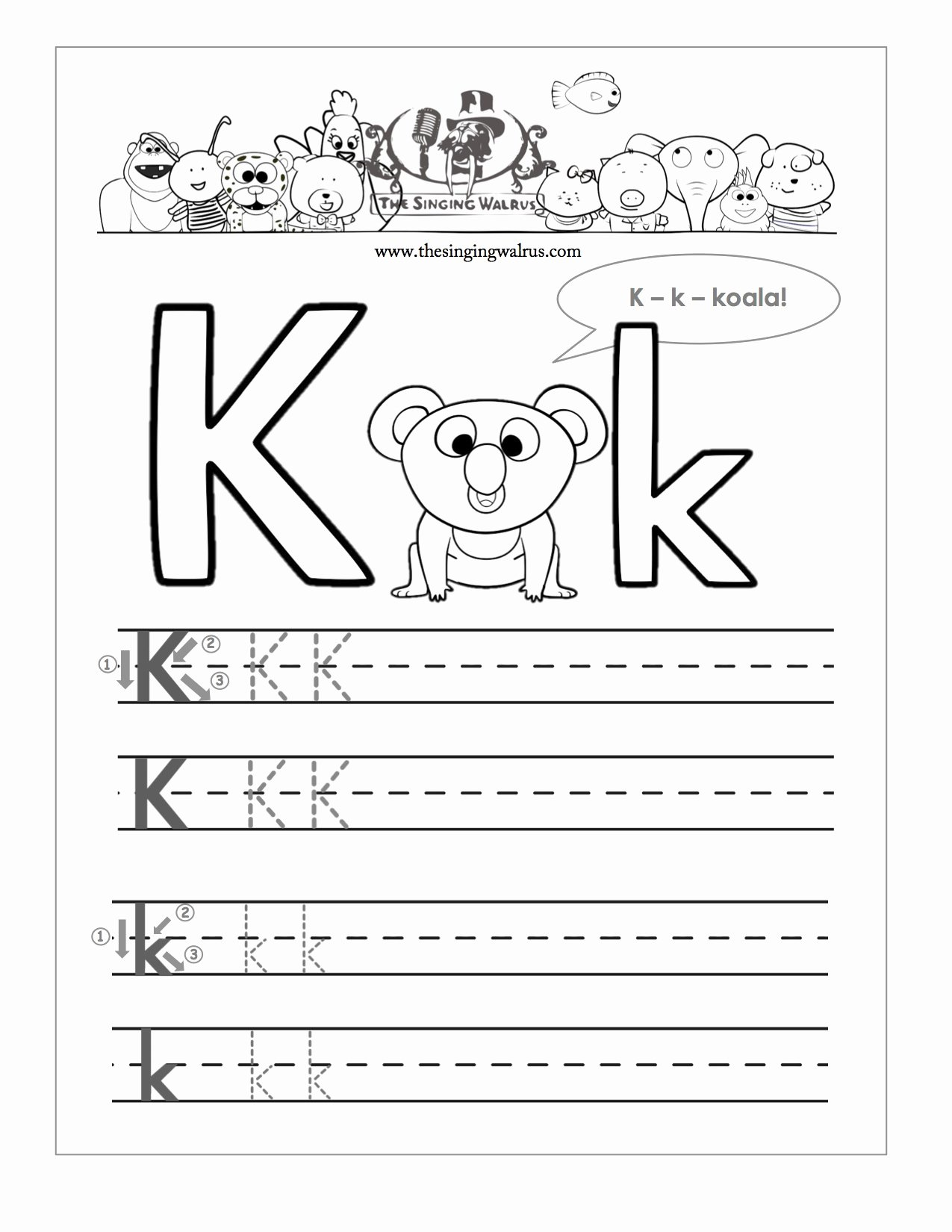 Worksheets for Preschoolers Learning to Write Lovely Worksheet Letter K Preschoolets for Kindergarten Learning