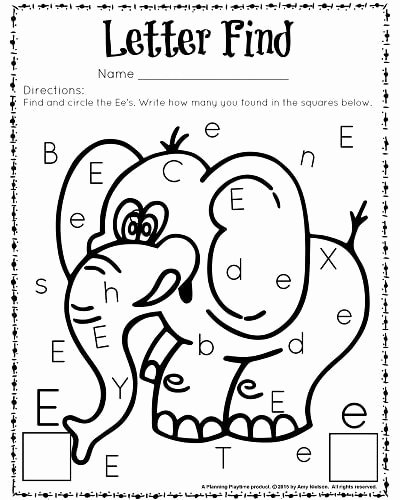 Worksheets for Preschoolers Letter D Free Cute Letter Find Worksheets with A Freebie Planning