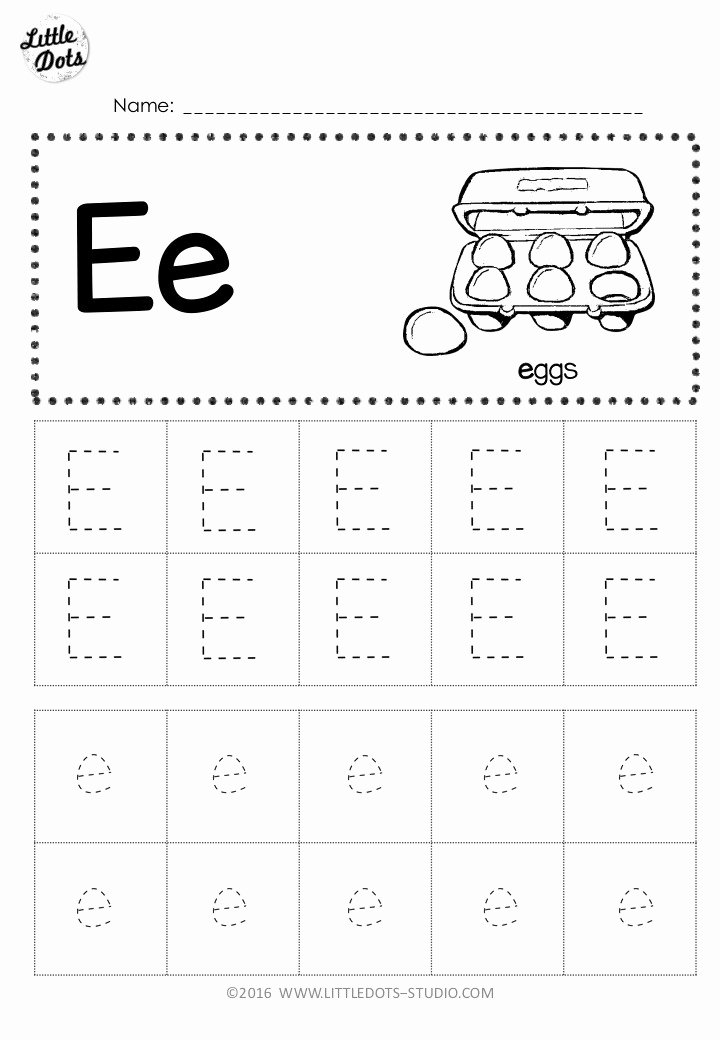 Worksheets for Preschoolers Letter D Free Free Letter E Tracing Worksheets