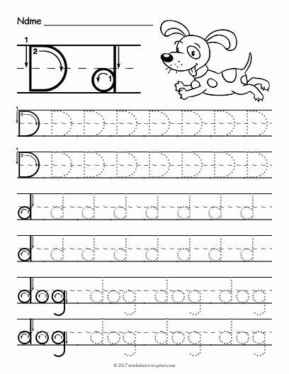 Worksheets for Preschoolers Letter D Fresh Free Printable Tracing Letter Worksheet Worksheets Addition