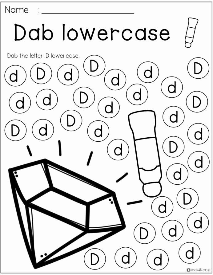 Worksheets for Preschoolers Letter D top Letter the Week Lettering Kindergarten Morning Work