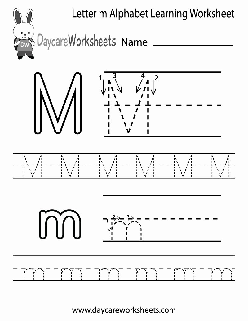 Worksheets for Preschoolers Letter M New Take Letter Tracing 7 Worksheets Free Printable Worksheets