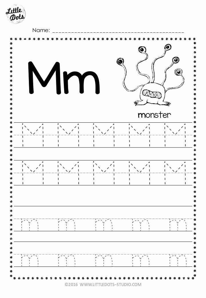 Worksheets for Preschoolers Letter M Printable Free Letter M Tracing Worksheets