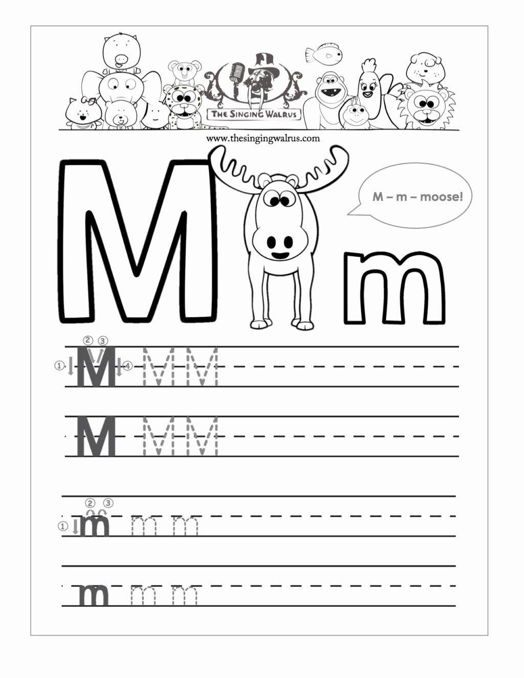 Worksheets for Preschoolers Letter M top Worksheet Worksheet Writing Practice for Kindergarten