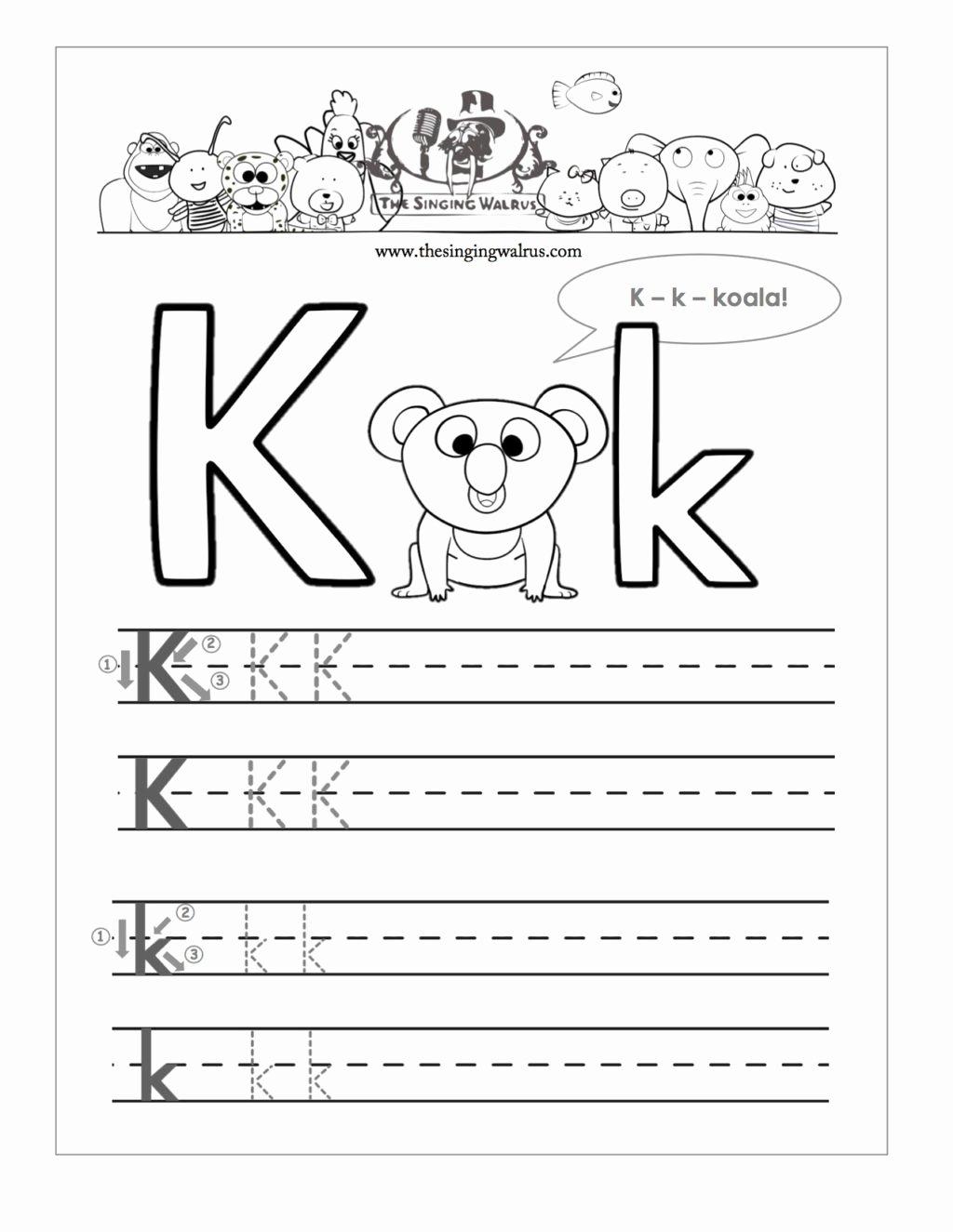 Worksheets for Preschoolers Letters Fresh Worksheet Free Printable Letter K Barka astonishing