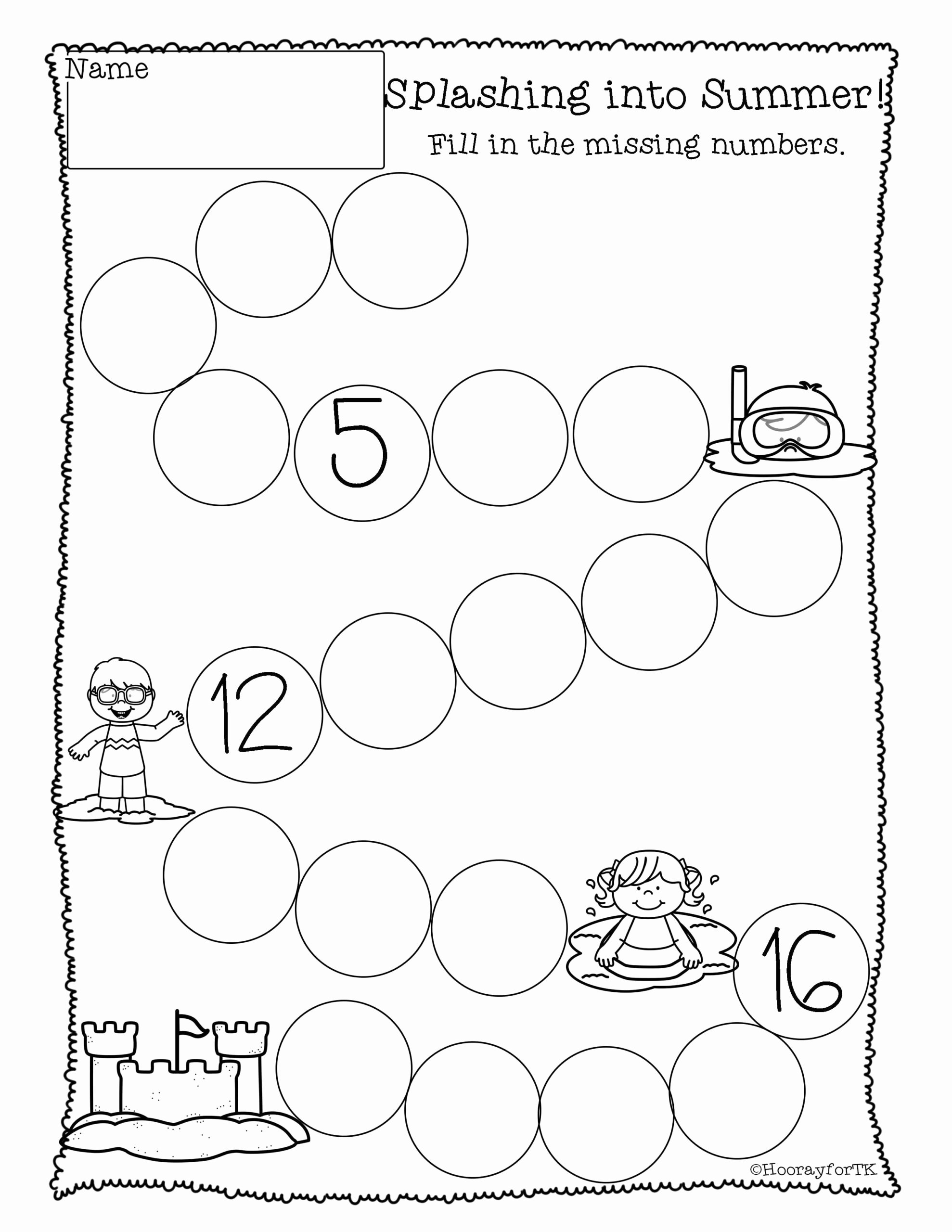 Worksheets for Preschoolers Math top Worksheets Printable Math Activities Kindergarten Free Pre
