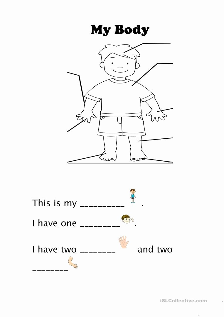 Worksheets for Preschoolers My Body Fresh My Body English Esl Worksheets for Distance Learning and