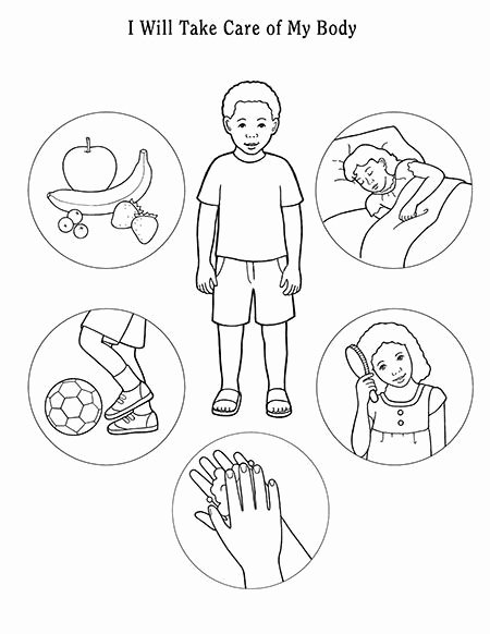 Worksheets for Preschoolers My Body Kids I Will Take Care Of My Body