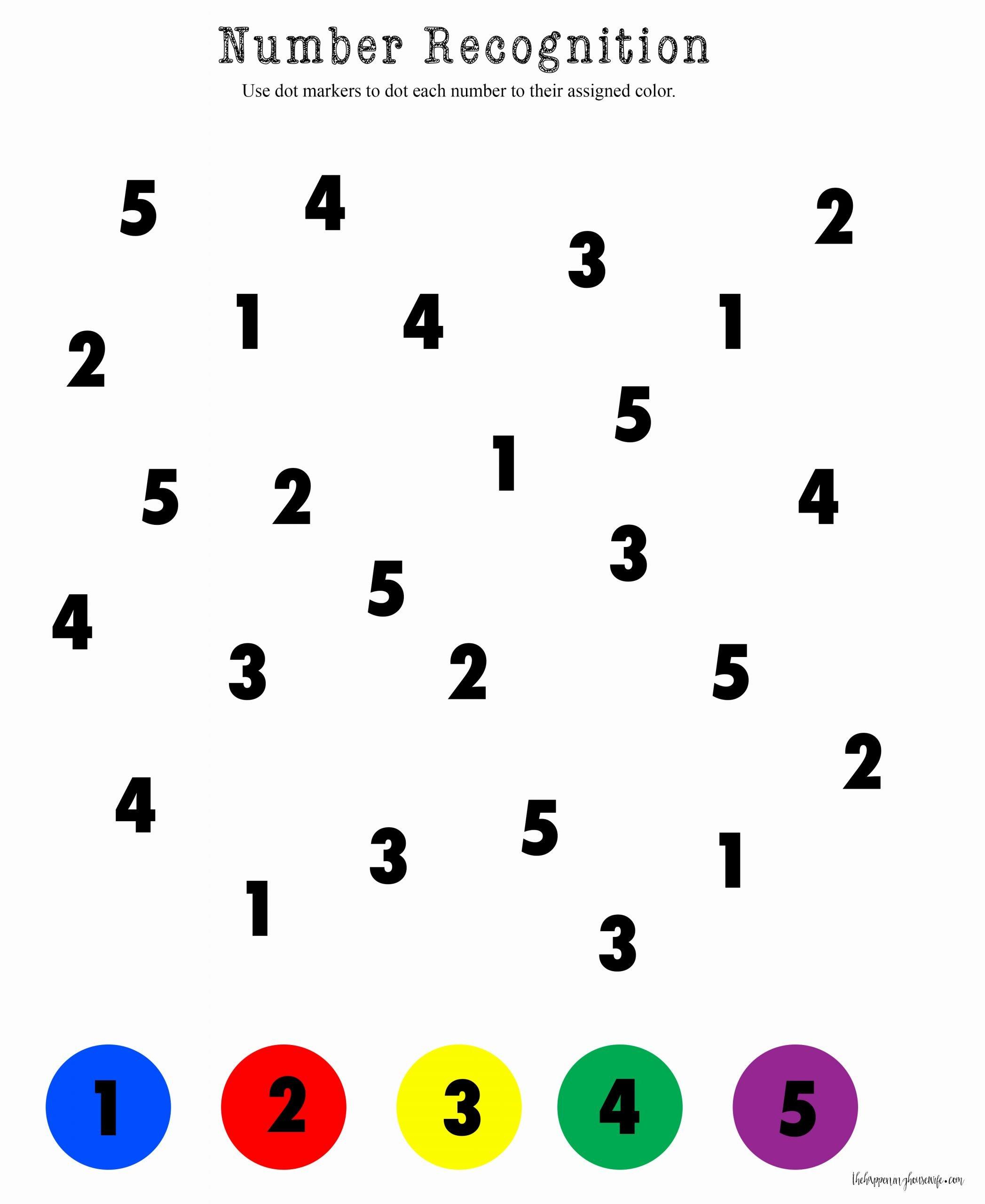 Worksheets for Preschoolers Number Recognition Free Number Recognition Worksheets for Download Number