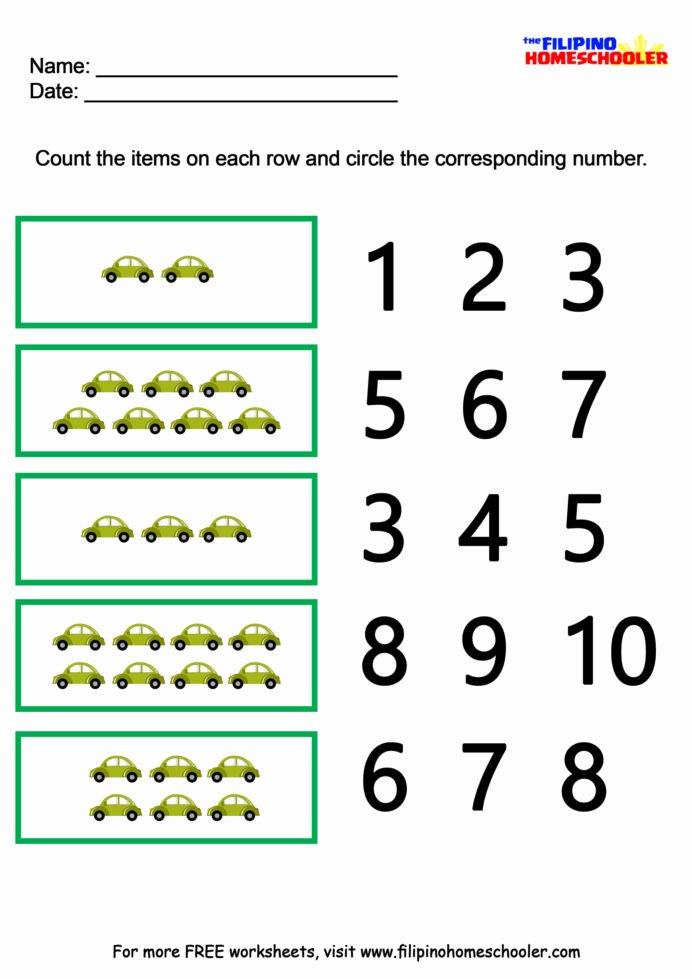 Worksheets for Preschoolers Number Recognition top Number Recognition Worksheets the Filipino Homeschooler