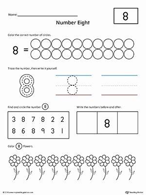 Worksheets for Preschoolers Numbers Best Of Number 8 Practice Worksheet