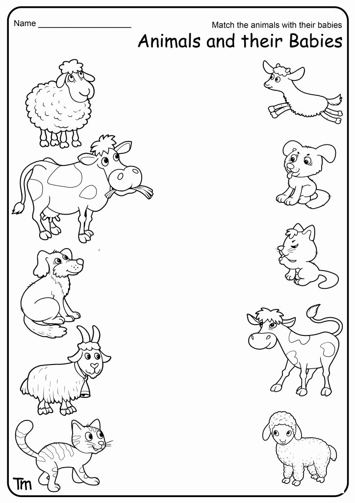 Worksheets for Preschoolers On Animals Printable Free Printable Farm Animal Worksheets for Preschoolers