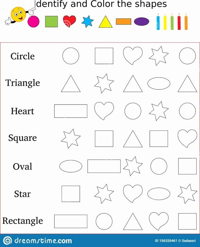 Worksheets for Preschoolers On Colors top Shapes Colors Worksheet formas Preescolar Figuras Preschool