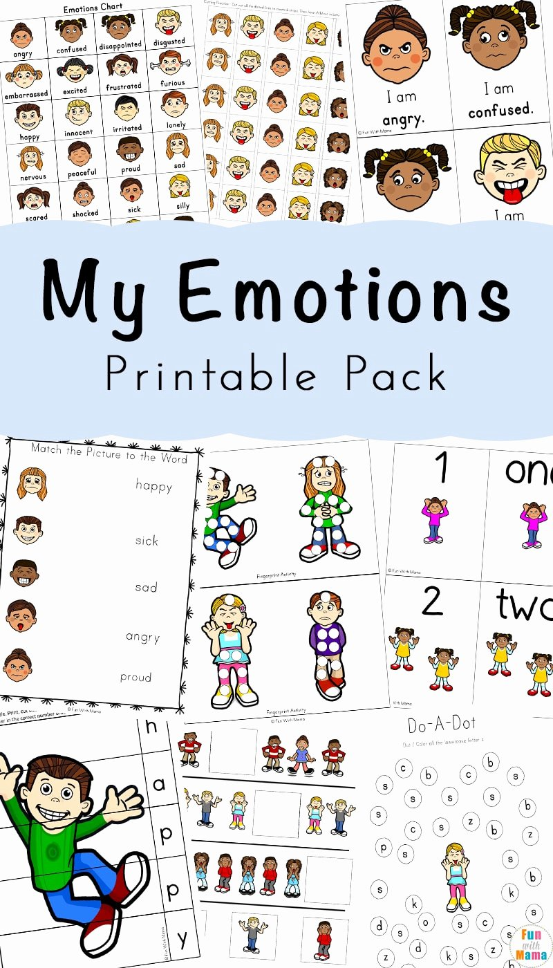 Worksheets for Preschoolers On Emotions Inspirational Feelings Activities Emotions Worksheets for Kids Fun