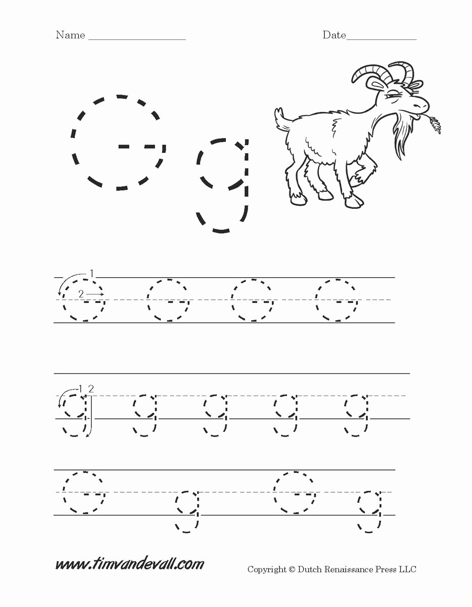 Worksheets for Preschoolers On Letters Kids Letter G Worksheets