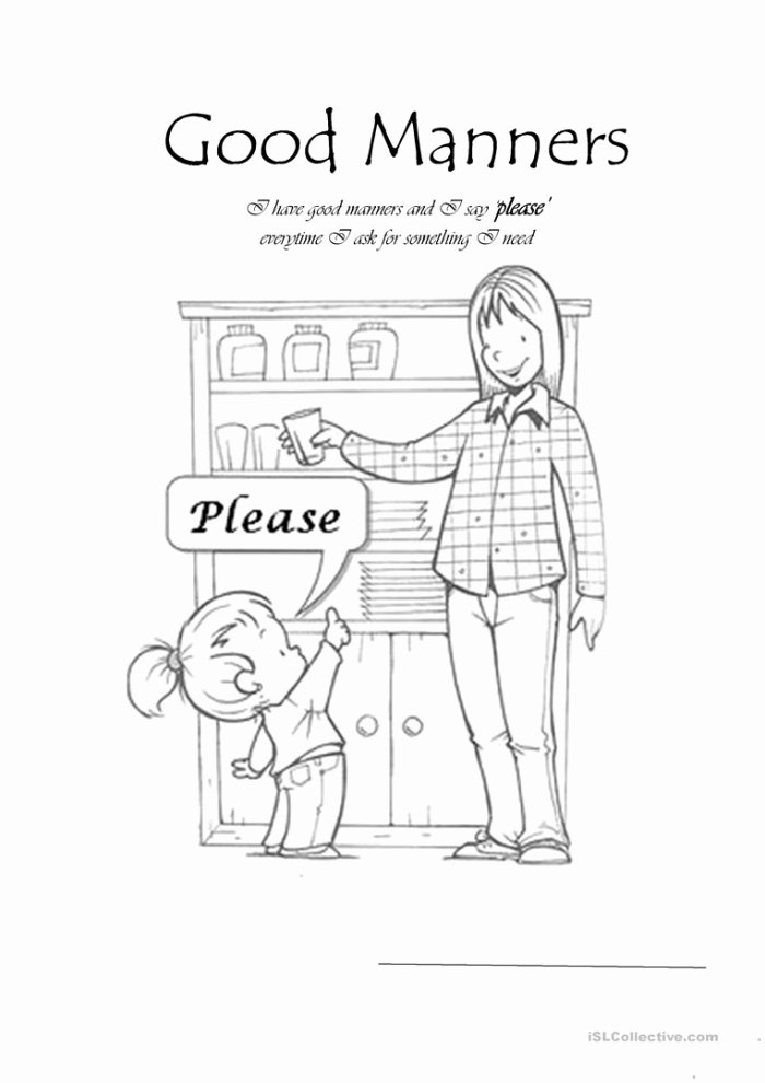 Worksheets for Preschoolers On Manners Lovely Manners Worksheet Worksheets