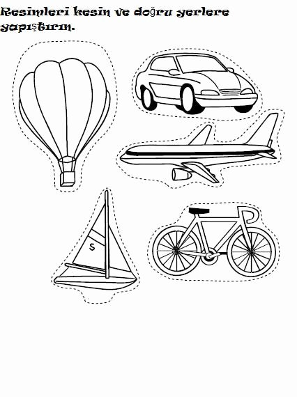 Worksheets for Preschoolers On Transportation New Transportation Worksheet for Kids