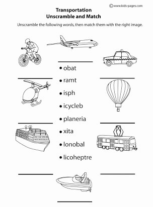 Worksheets for Preschoolers On Transportation top Essay On Means Of Transport for Kindergarten