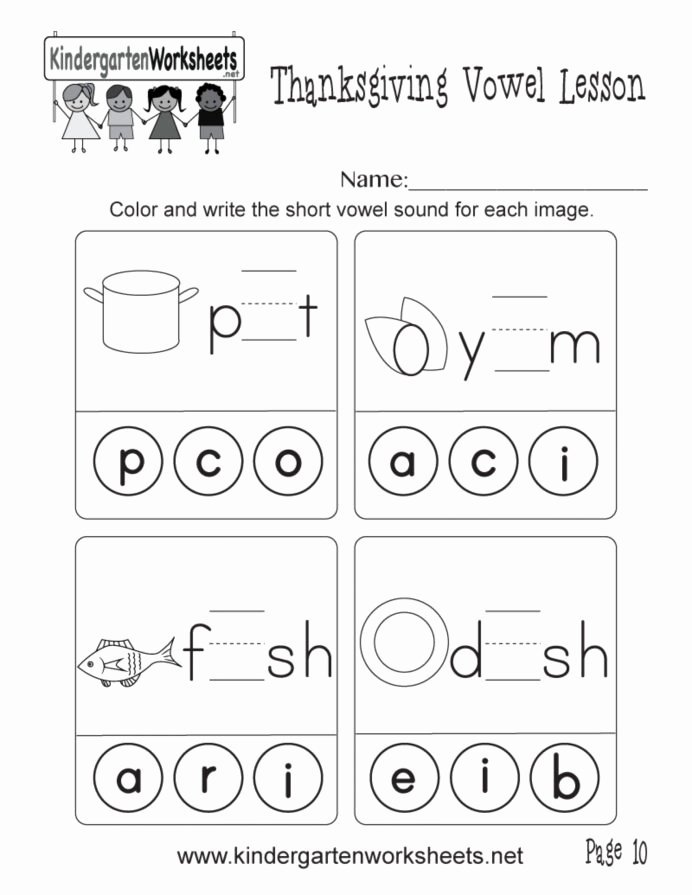 Worksheets for Preschoolers On Vowels Free and Short Vowel sounds Worksheets Learning Printable